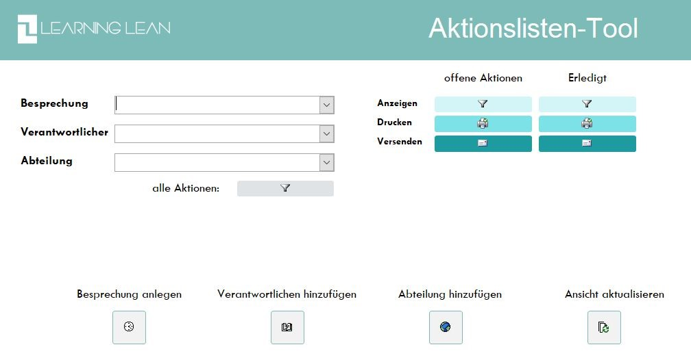 Learning Lean Aktionsliste